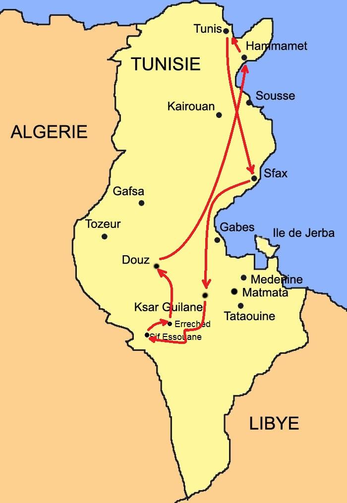 Carte Sif Essouane Sud Est