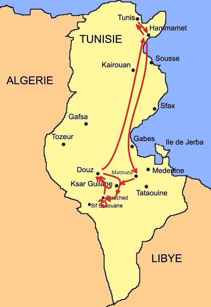 Carte Tunisia Tour Avril 21