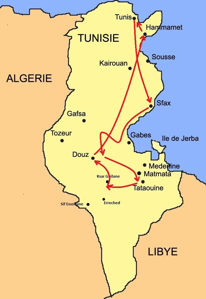 Carte Tunisie Cap découverte 1